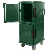 Cambro UPC800519 Ultra Camcarts® Kentucky Green Insulated Food Pan Carrier - Holds 12 Pans