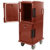 Cambro UPC800402 Ultra Camcarts® Brick Red Insulated Food Pan Carrier - Holds 12 Pans