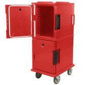 Cambro UPC800158 Ultra Camcarts® Hot Red Insulated Food Pan Carrier - Holds 12 Pans