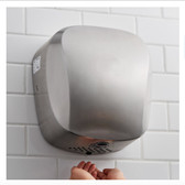 Janitorial Stainless Steel High Speed Automatic Hand Dryer with HEPA Filtration - 110-130V, 1450W