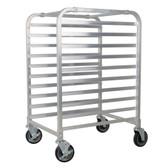 10 Pan End Load Half Height Bun / Sheet Pan Rack - Unassembled