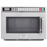 Panasonic NE-12521 Stainless Steel Medium Duty Commercial Microwave Oven - 120V, 1200W