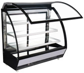 60-inch Refrigerated Floor Showcase Curved Glass