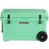 CaterGator CG45SFW Seafoam 45 Qt. Mobile Rotomolded Extreme Outdoor Cooler / Ice Chest