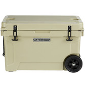 CaterGator CG45TANW Tan 45 Qt. Mobile Rotomolded Extreme Outdoor Cooler / Ice Chest