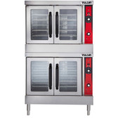 Vulcan VC66GD-NAT Natural Gas Double Deck Full Size Gas Deep Depth Convection Oven with Solid State Controls - 100,000 BTU