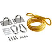 """Coiled 36"""" Restraining Cable for 48"""" Gas Connector"""
