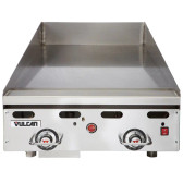 """Vulcan 924RX-30 24"""" Polished Top Commercial Griddle with Snap-Action Thermostatic Controls and Extra Deep Plate - 54,000 BTU"""