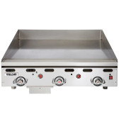 """Vulcan 936RX-30C 36"""" Chrome Top Commercial Griddle with Snap-Action Thermostatic Controls and Extra Deep Plate - 81,000 BTU"""