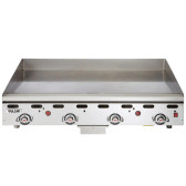 """Vulcan 948RX-30 48"""" Polished Top Commercial Griddle with Snap-Action Thermostatic Controls and Extra Deep Plate - 108,000 BTU"""