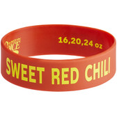 """Choice """"Sweet Red Chili"""" Silicone Squeeze Bottle Label Band for 16, 20, and 24 oz. Standard & Wide Mouth Bottles"""