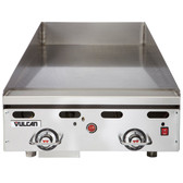 """Vulcan 924RX-30C 24"""" Chrome Top Commercial Griddle with Snap-Action Thermostatic Controls and Extra Deep Plate - 54,000 BTU"""