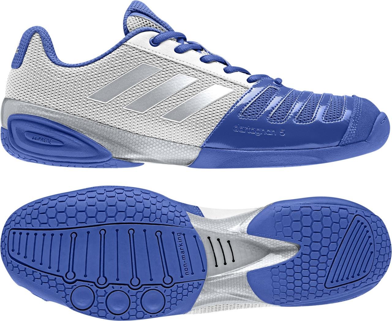 d2f02e18d0e Fencing Shoes -Adidas 2018 D Artagnan V BLUE - NEW!! - The Fencing Post