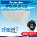 MASKS PROTECTIVE SPORTS FACE SHIELDS