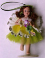 Porcelain Flower Fairy Doll - Yellow/Green