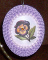 Quilled Pansy Egg