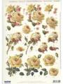3-D Pre-cut Yellow Roses