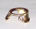 Egg Stand - Bright Gold Finish #654 - Swans