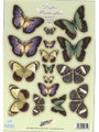 Pre-cut Metallic Butterfly Embellishments - Elegant