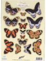 Pre-cut Metallic Butterfly Embellishments - Spring
