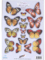 Pre-cut Metallic Butterfly Embellishments - Summer