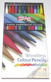 Koh-I-Nor Woodless Colored Pencils - Set of 12
