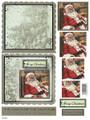 3-D Pyramid Card Kit - Santa