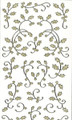 Outline Holly Flourish - Gold Glitter/Silver Outline