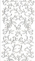 Outline Leaf Flourish - Transparent Glitter/Silver Outline