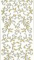 Outline Leaf Flourish - Gold Glitter/Silver Outline