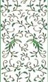 Outline Leaf Flourish - Green Glitter/Gold Outline
