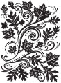 Fall Leaves Swirl Embossing Folder