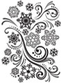 Snowflake Swirl Embossing Folder