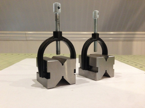 Stainless Steel  X-blocks with  cast iron clamps and Stainless Steel thumb screws