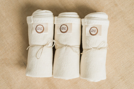 Set of 3 Organic Terry Burp Cloths - Blessed Nest