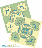 AccuQuilt Die Board 2 pc. Set Lucky Lotus