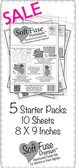SoftFuse Premium Starter Pack 50 sheets 8 X 9 inches **MISCUT 8X8**