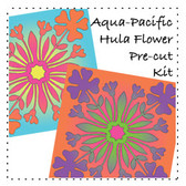 Aqua Pacific Hula Flower Kit
