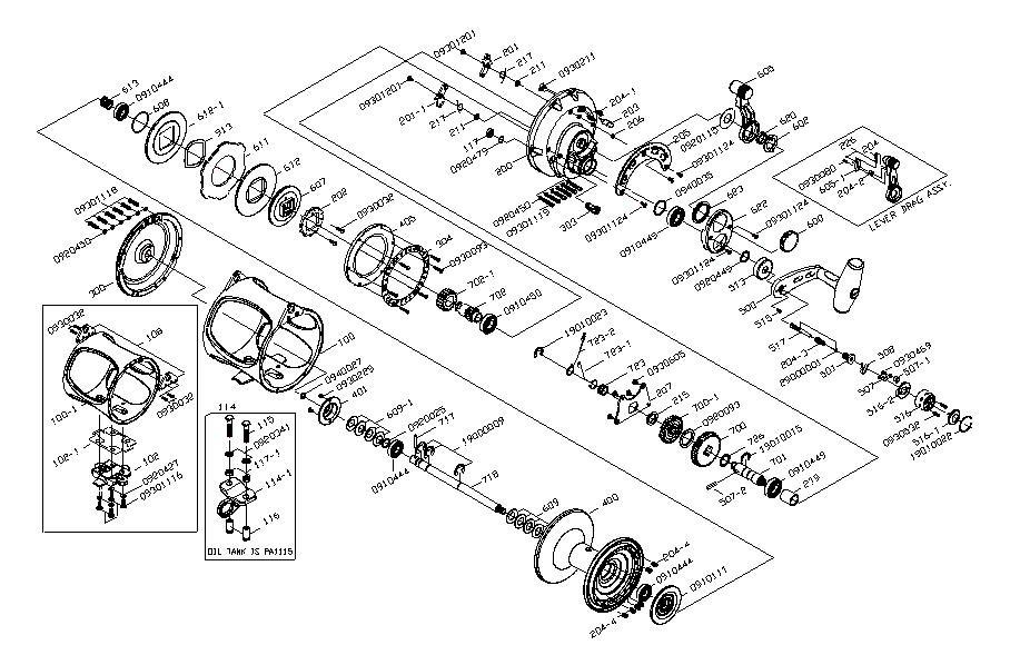 Shimano reel parts