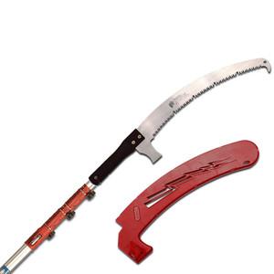 Z555P3+Z550+S 7.3-23' Telescoping Pole Saw, Curved Fine Tooth Blade w/ Sheath