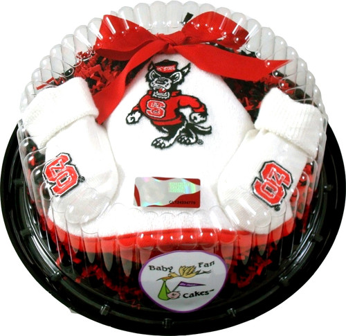 NC State Wolfpack Piece of Cake Baby Gift Set