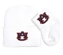 Auburn Tigers Newborn Baby Knit Cap and Socks Set