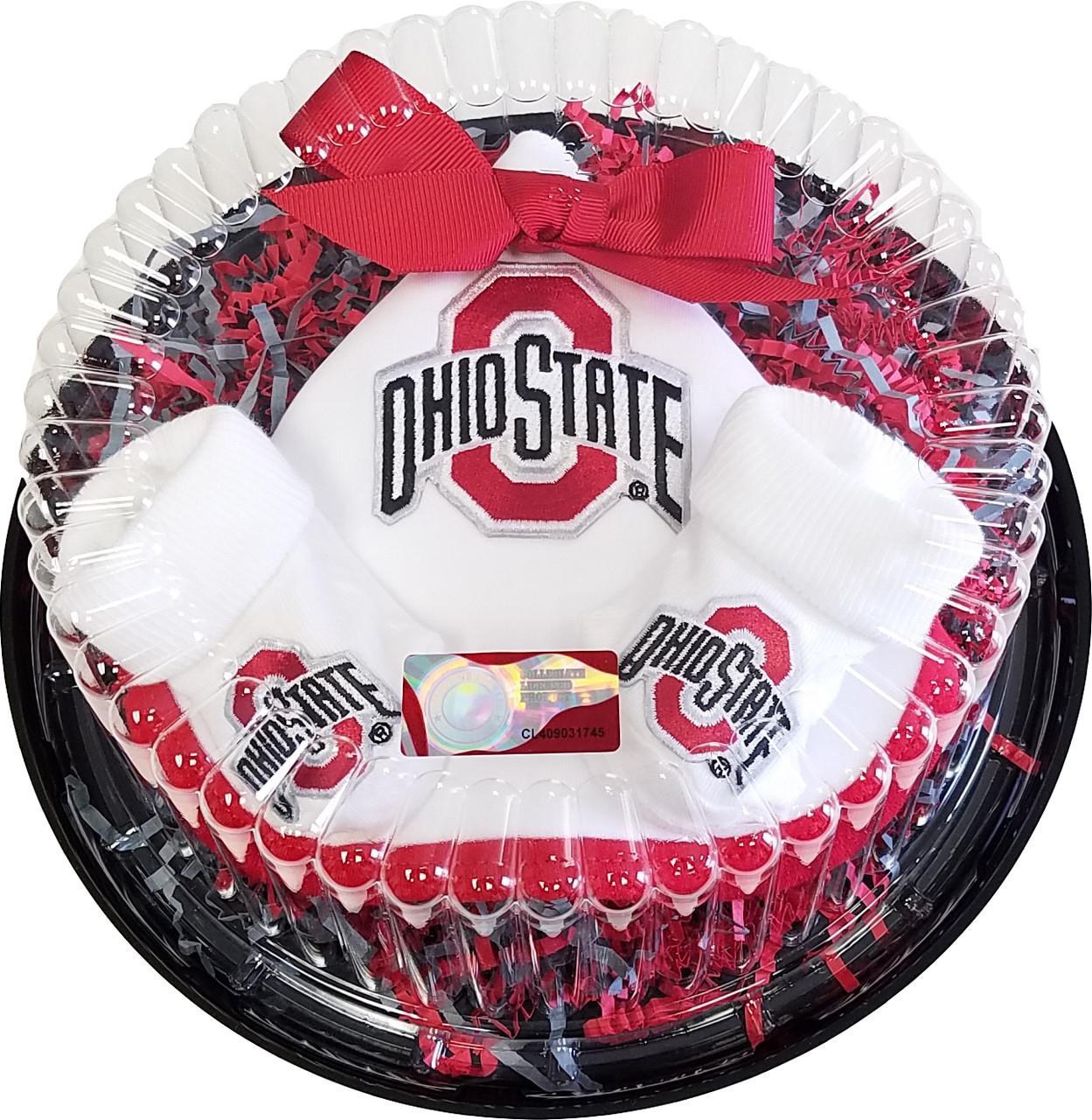 Ohio State Buckeyes Piece Of Cake Baby Clothing Gift Set