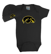 Iowa Hawkeyes Baby Bodysuit and Cap