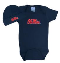 Mississippi Ole Miss Rebels Baby Bodysuit and Cap Set