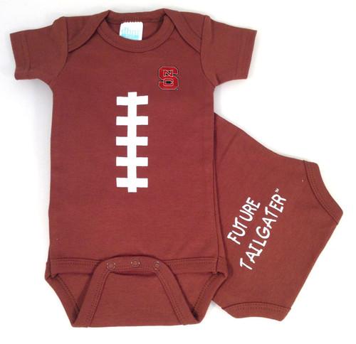 NC State Wolfpack Baby Football Onesie