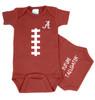 Alabama Crimson Tide Baby Football Onesie