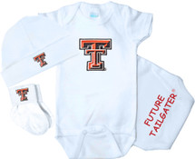 Texas Tech Red Raiders Homecoming 3 Piece Baby Gift Set