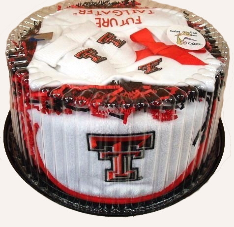 Texas Tech Red Raiders Baby Fan Cake Clothing Gift Set