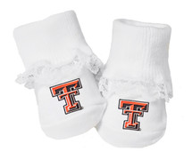 Texas Tech Red Raiders Baby Toe Booties with Lace